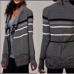Ivivva Feelin Toasty Wrap Cardigan Sweater Girl 14